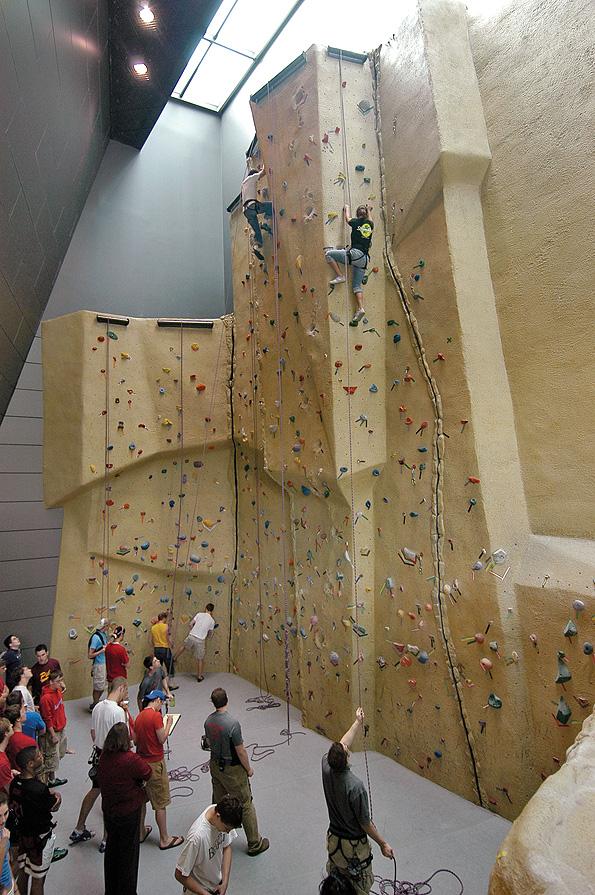 Campus Recreation Center climbing wall