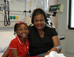 Jasmine Fenton with her mom, Kimberly