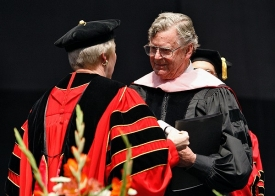 Emmy winning UC alum Earl Hamner, CCM '48, gave this year's commencement address.