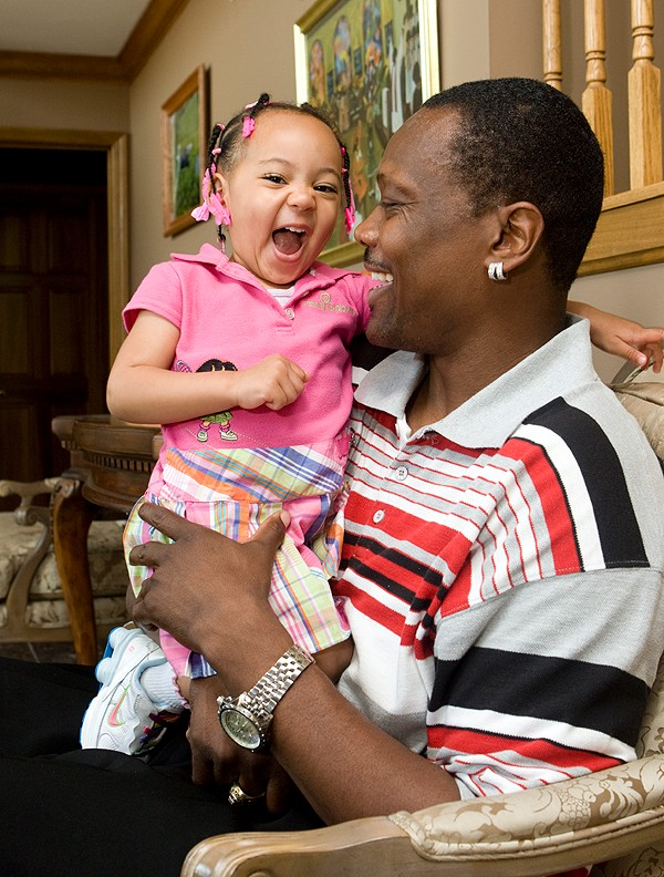 Cory Blount with daughter