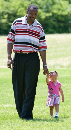 Cory Blount with his daughter Celina