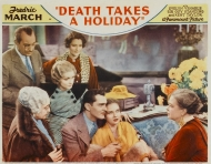 "Lobby card of Evelyn Venable in ""Death Takes a Holiday."""