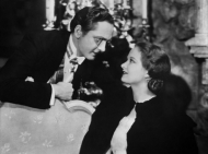 "Venable and Fredric March in ""Death Takes a Holiday."""