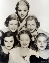 Venable with other Paramount starlets, including Ida Lupino.