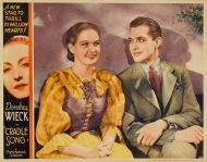 Lobby card of Evelyn Venable with Kent Taylor in her first film, Cradle Song, in 1933.
