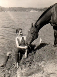Venable and a horse.