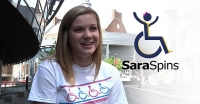Video: Sara Whitestone won't allow UC's hilly campus from chasing down a cure for her disease.