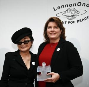Barbara Kowalcyk with Yoko Ono