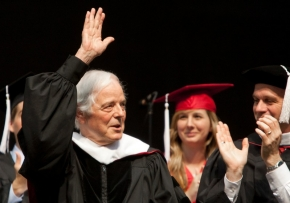Nick Clooney at UC's commencement. Photos/Lisa Ventre