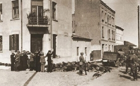 Bodies shot in the street of Czestochowa and left lying there.