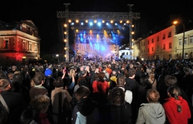 An evening concert at the Krakow Jewish Culture Festival.