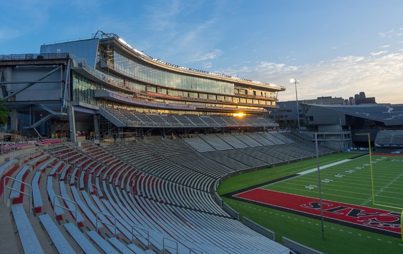 The University of Cincinnati's football venue, Nippert Stadium.