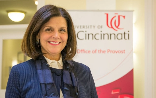 The University of Cincinnati's provost Beverly Davenport.