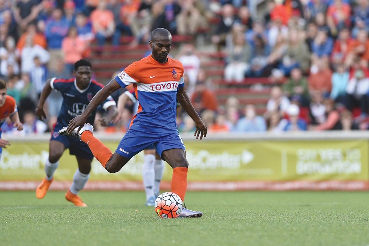 FC Cincinnati forward Omar Cummings played soccer for the Bearcats from 2005 to 2006.