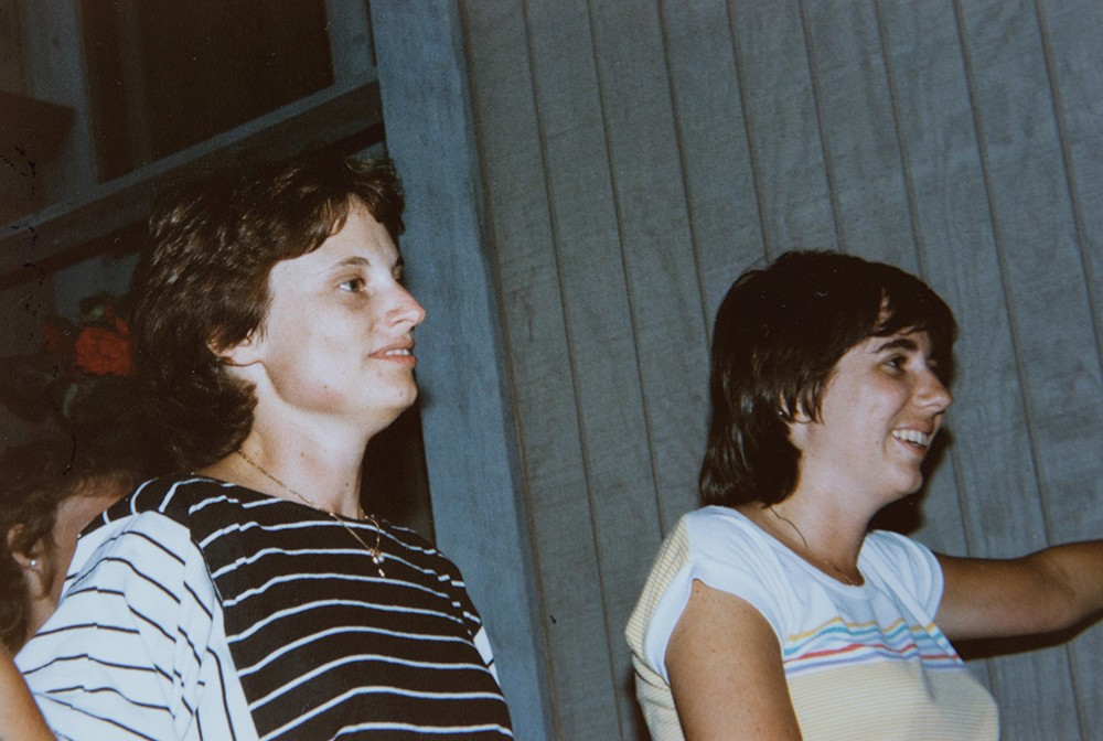 Beth Sininger Flege and Susan Kromer Hunt in the 1980s