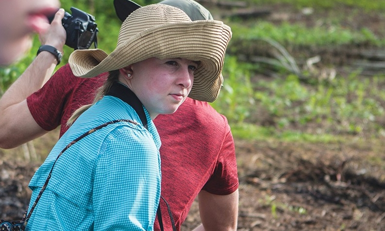 College of Nursing student pauses during Amazon trip