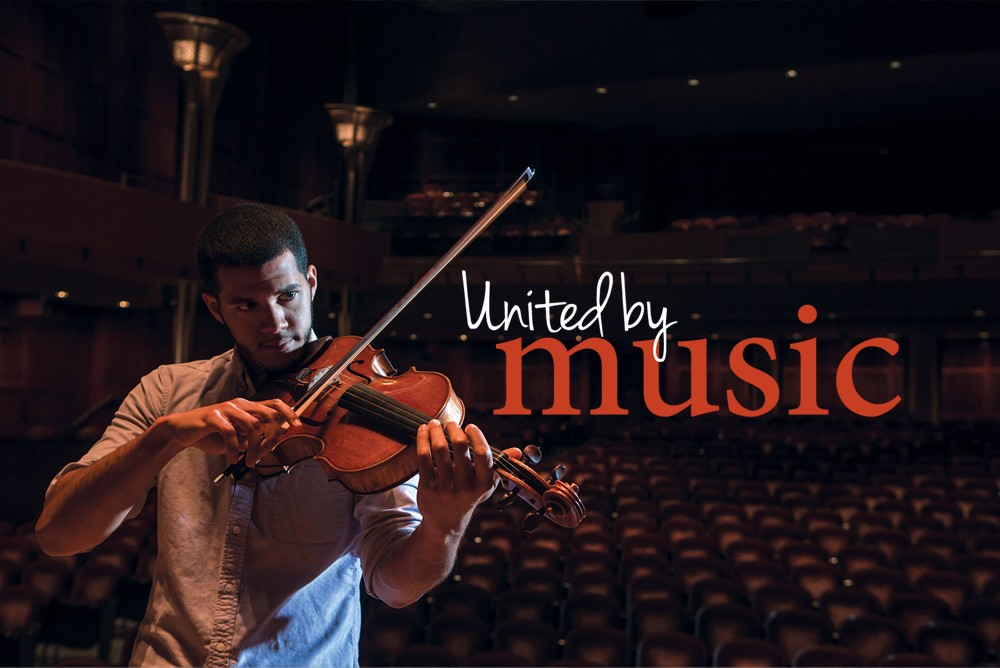 United by Music Graphic