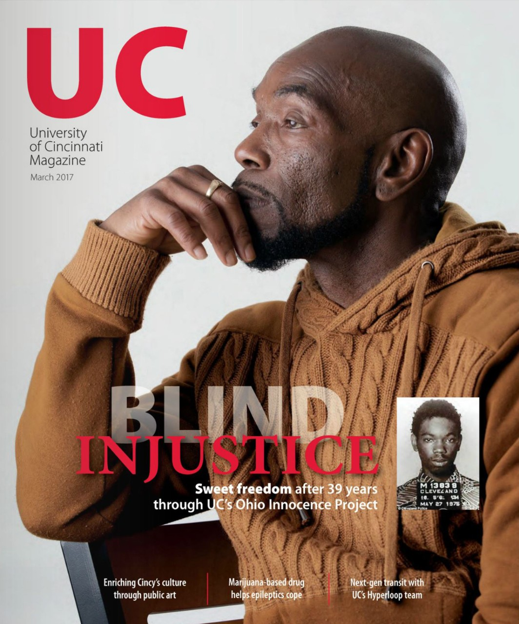 Cover of March 2017 UC Magazine with Ricky Jackson
