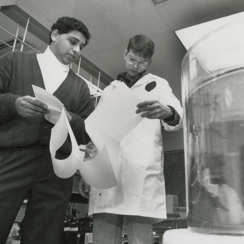 Pinto working in a UC lab in 1993