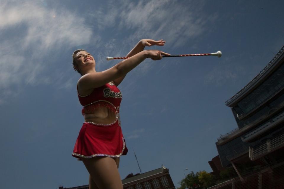 UC baton twirler Anita Vey