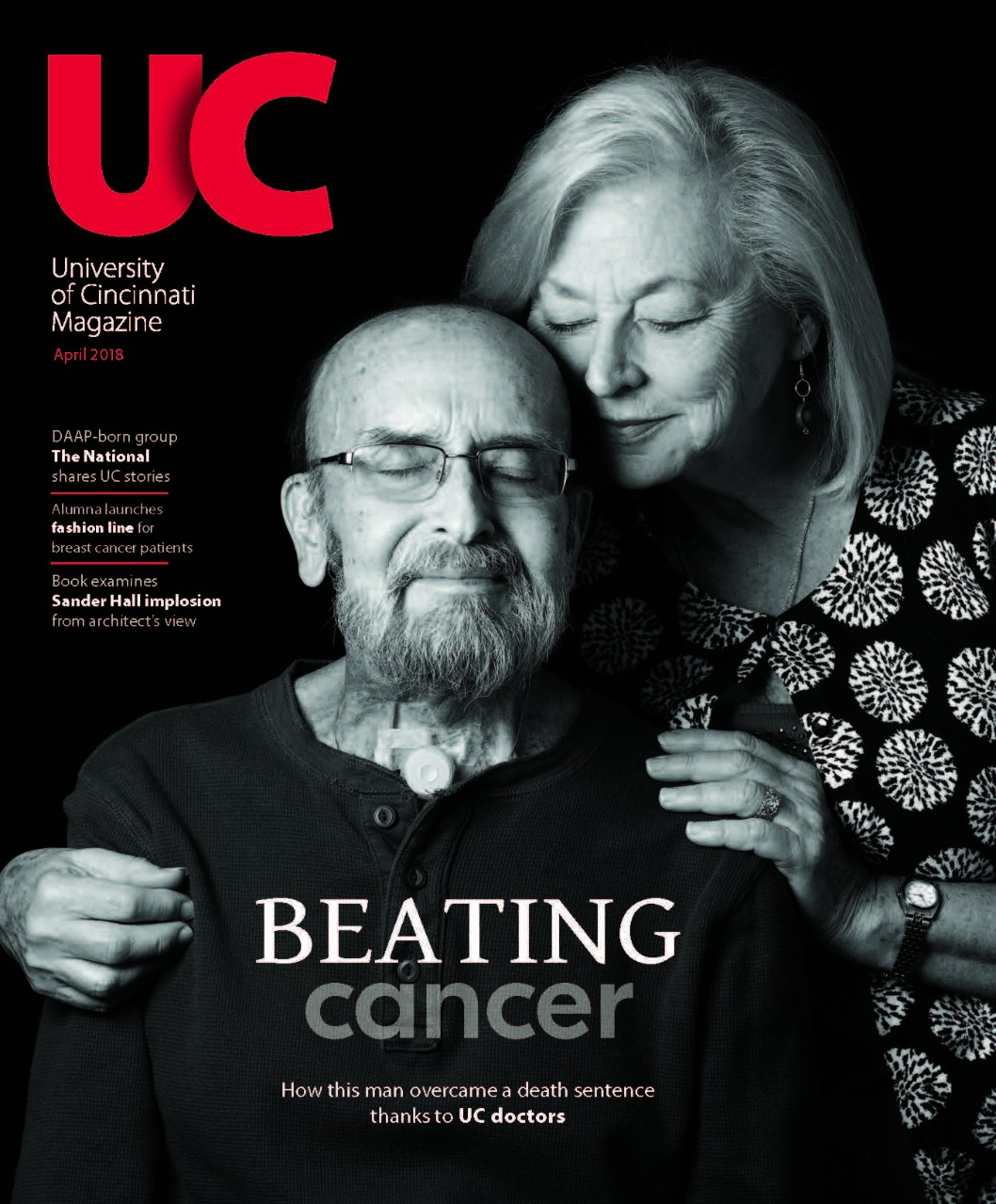 Cover of September 2018 UC Magazine with Poncho Noggler