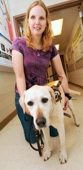 Shawn Makepeace and her guide dog