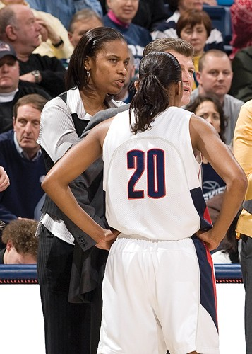 Jamelle Elliott as UConn student