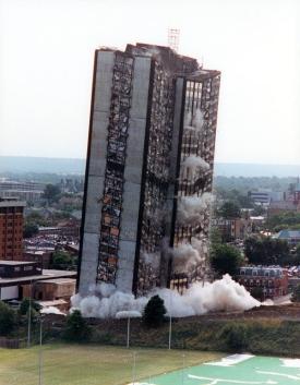 Sander Hall implosion
