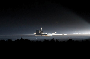 Space Shuttle Atlantis touches down for final time.