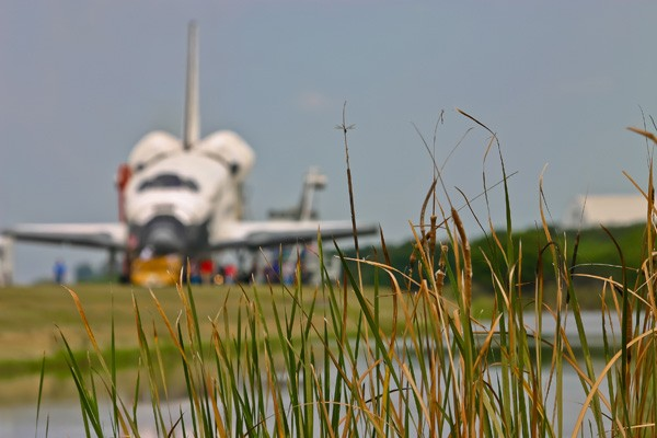 Atlantis following its final touch down at Cape Canaveral. photo/Bob Egleston
