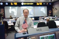 John McCullough inside Johnson Space Center