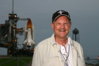 UC alumnus Bob Egleston got to co-write his dream assignment when attended the space shuttle's final launch and landing.