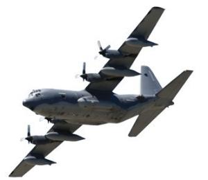 C-130 military training plane.
