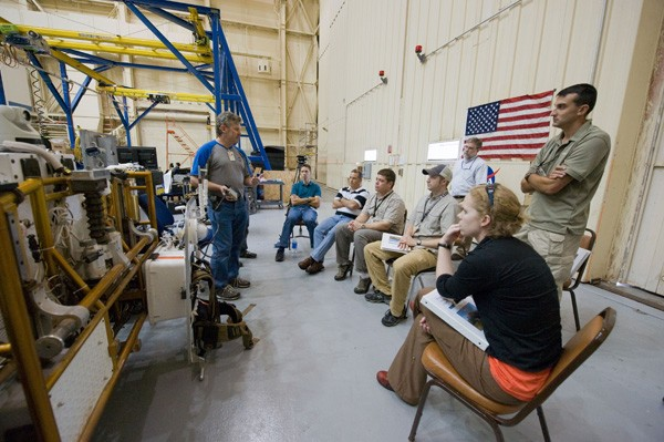 Scott Bleisath at work at NASA.