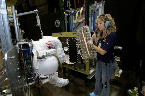 Lora Atkins Bailey at work at NASA.