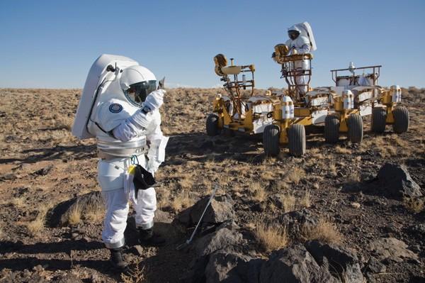 Mock exploration mission at Black Point Lava Flow, Arizona.