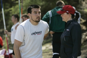 Coach Susan Seaton with Ian Jarman