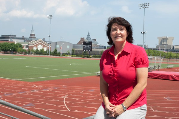 Susan Seaton on UC track.