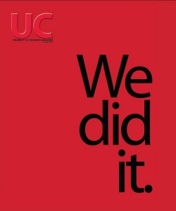 UC Magazine cover: We did it