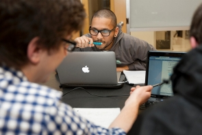 UC students study in the Alumni Engineering Learning Center
