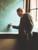 Professor Neil Armstrong at the blackboard