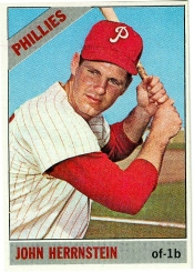 Baseball card of Philadelphia Phillies John Herrnstein