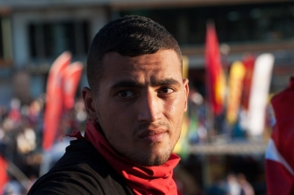 Turkish man in square