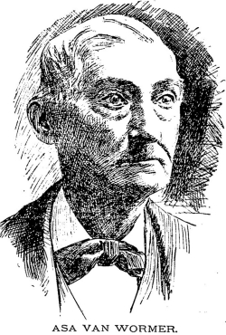 Sketch of Asa Van Wormer