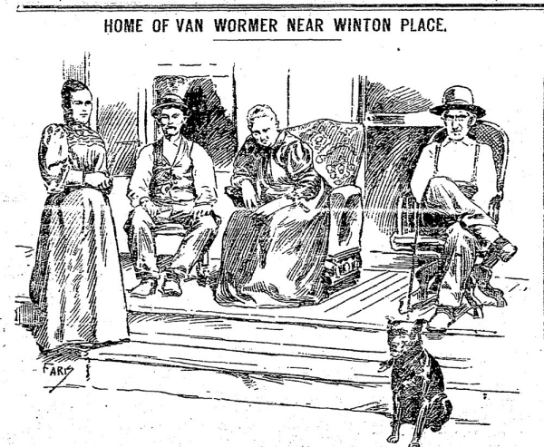 Newspaper clipping of Van Wormer family from 1903