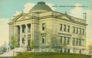 A postcard shows the Van Wormer Library in 1914