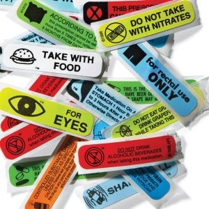 Prescription warning labels