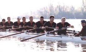 For recent grad Eric Mersmann (second rower from the front), Honors-PLUS led to joining the UC rowing club, which, in turn, nurtured leadership skills.