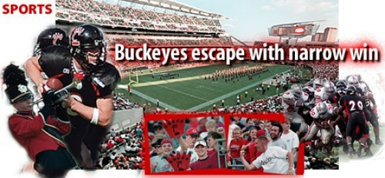 Buckeyes escape with narrow win
