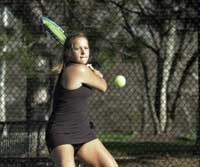 Sophomore Cristina Reyes won 18 singles titles as a freshman in 2002. photo/Andrew Higley